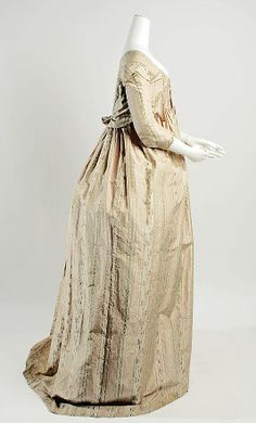 Dress 1796, French, Made of silk