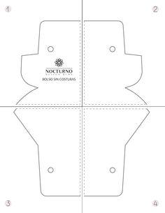 DIY: Bolso sin costuras + molde gratis. – Nocturno Design Blog Sewing Patterns Free, Free Sewing, Design Blog, Easy Diy, Jeans, Molde, Fabric Purses, Nocturne, Tutorials