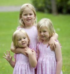 The Dutch Princesses:  In the pink-Ariane, Amalia and Alexia