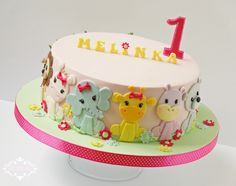 B'day cake with cute animals