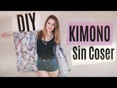 DIY: Cómo hacer un kimono SIN COSER - YouTube