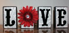 wooden blocks, sb paper and vinyl cut-outs 2x4 Crafts, Wood Block Crafts, Wooden Crafts, Crafts To Make, Valentines Day Decorations, Valentine Day Crafts, Holiday Crafts, Valentine Box, Holiday Ideas