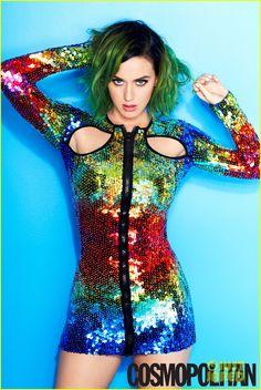 Katy Perry is in Covers Cosmopolitan July 2014,