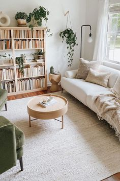 Cute Living Room, Boho Living Room, Living Room Modern, Home And Living, Living Room Designs, Living Room Decor, Small Living, Living Spaces, Living Room With Plants