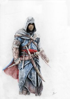 Old Ezio in colour by froggywoggy11 on DeviantArt