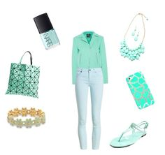 """""""Mint"""" by merijam5 on Polyvore featuring Bao Bao by Issey Miyake, McQ by Alexander McQueen, NARS Cosmetics, Casetify, BillyTheTree, CL by Laundry and Barbour"""