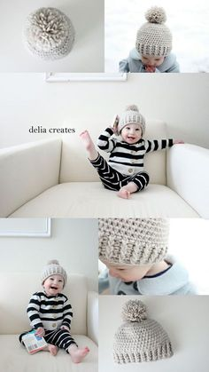delia creates: Crocheted Ribbed Beanie - Free Pattern