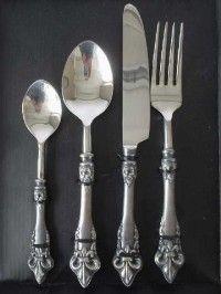 Bestekset franse lely PTMD, zilver bestekset, baroc bestek, chique bestek, tafel