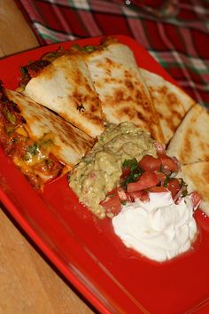 For leftover pulled pork  - pulled pork quesadillas