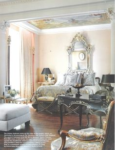Master Bedroom - Architect Thomas Kligerman. Interior Design by Ann Getty, Image from California Homes