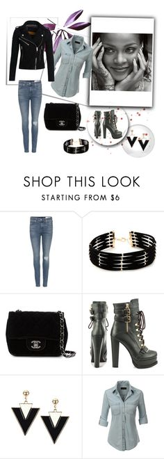 """""""Untitled #62"""" by kika-radacovska on Polyvore featuring rag & bone, Forever 21, Chanel, Luichiny, LE3NO and Superdry"""