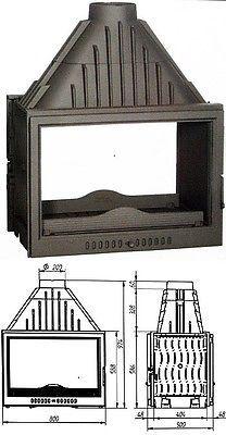 Double Sided wood burning stove Plasma Insert Contemporary wood/Log Burner