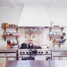 This kitchen! Beautiful first day on the set with @Target Style.