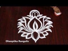 simple & easy lotus rangoli for friday * sravana masam lotus muggulu - new rangoli patterns