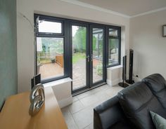 1800MM X 2100MM WHITE PVC uPVC FRENCH DOOR WITH SIDES WINDOWS ...