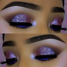 23 Glitzy New Year's Eve Makeup Ideas: #3. VIBRANT GLITTER EYE MAKEUP; #eyemakeup; #makeup #GlitterFashion
