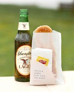 Yuengling beer and soft pretzels byPhiladelphia Pretzel, both Philly staples, make a good wedding snack break (Photo by Trevor Dixon)