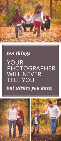 Ten Things Your Photographer Will Never Tell You But Wishes You Knew