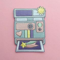 Pastel Polaroid Iron On Patch   hand over your fairy cakes