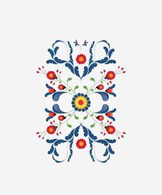 Kurbits pattern by Caroline Tinterova. Her art is beautiful!