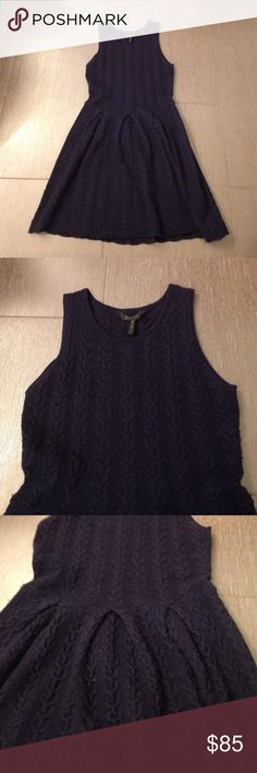 """👗100% wool bcbg """"cydney"""" cable knit sweater dress Beautiful dress! My loss your new favorite dress!!! Price reflects some pilling, as to be expected with sweater material BCBGMaxAzria Dresses"""