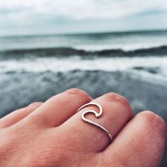 Rings Boho Rolling Tides Wave Ring from our Shop Dixi Harvest Moon Bohemian Collection! Heart Pendant Necklace, Heart Earrings, Good Vibe, Wave Ring, Cute Rings, Simple Rings, Crystal Pendant, Piercings, Jewelry Accessories