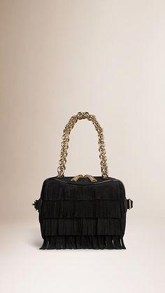 Black The Mini Alchester in Suede Fringe - Image 1 Burberry 7608ceb5ca02b