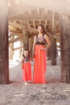 Midnight Magic Neon Maxi, matching mommy and me dress from our Just Like Mommy Collection, Be Inspired Boutique