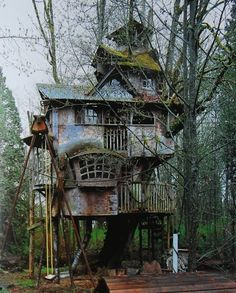Wow, I would love my kids someday to have a amazingly creepy tree house like this...