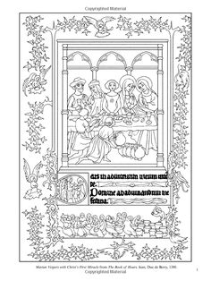 Illuminated Manuscript Coloring Pages Found On