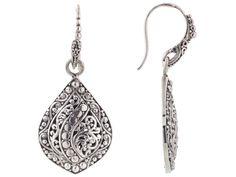 Artisan Gem Collection Of Bali(Tm) Sterling Silver Filigree Dangle Earrings