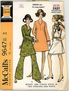 Vintage McCall's Pattern 9647  Misses' and by stillinvoguevintage, $8.00