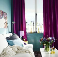 Make a beautiful and comfortable space for Mom to relax on Sunday and enjoy every day of the year. Pillows, throws, curtains and fresh flowers are just a few touches that bring it all together.