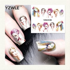 YZWLE 1 Vel DIY Decals Nagels Art Water Transfer Printen Stickers Accessoires Voor Manicure Salon YZW-8189