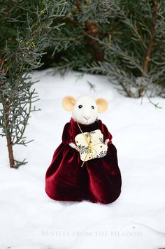 Little Christmas Mouse Needle Felted Ornament The Christmas