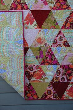 triangle quilt, in love!