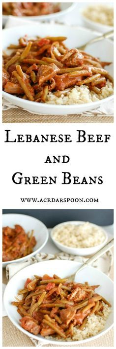 Lebanese Beef and Green Beans // A Cedar Spoon