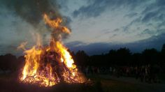 At the end of June, Finnish friends and families gather in their summer cottages to light bonfires and barbecue food to celebrate the summer solstice.
