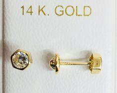 d20ed7fd6cb7 Pendientes o aretes oro 18k para niña chica y mujer Perla