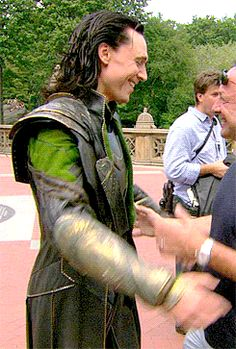 Oh my gods loki is hugging a human! The world as we know it is ending
