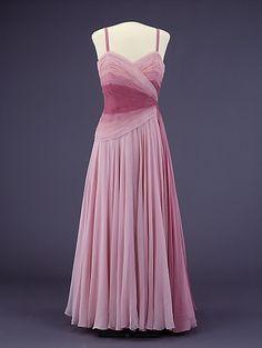 Evening Dress, 1954 Designed by Molstad Worn by Princess Martha of Denmark
