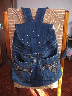 Bag Pattern Free, Back Bag, Sewing Lessons, Patchwork Bags, Leather Bag, Girl Outfits, Cover Up, Quilts, Jean Bag