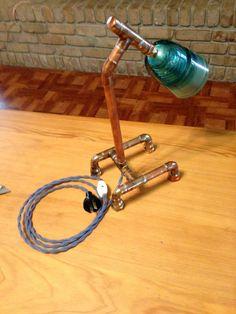 Copper Pipe Lamp. $135.00, via Etsy.