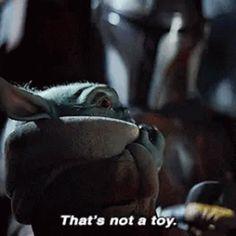 Baby Yoda Thats Not AToy GIF - BabyYoda ThatsNotAToy Cute - Discover & Share GIFs
