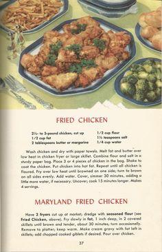 vintage recipes, chicken, stuffing