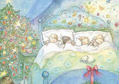 SugarPlum Dreams Christmas Card  8 pack by Periwinklesky on Etsy
