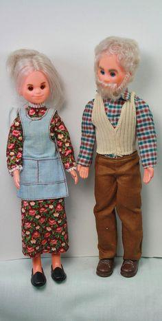Vintage Sunshine Family Grandparents Dolls 1970s Mattel