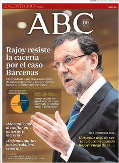 Los Titulares y Portadas de Noticias Destacadas Españolas del 2 de Agosto de 2013 del Diario ABC ¿Que le pareció esta Portada de este Diario Español?