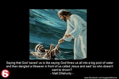 God and the evil lifeguard analogy
