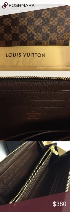 Authentic Louis Vuitton Zippy Compact wallet In new condition with box and duster. Damien canvas.  9 credit card slots. 1 large zippered coin compartment. Louis Vuitton Bags Wallets